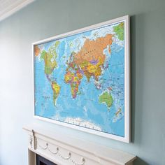 Vintage framed map of british isles in antiques maps uk ebay framed map of the world gumiabroncs Choice Image