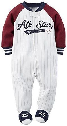 New Carter/'s Boys 1 Piece Baseball All Star Romper Outfit NWT NB 3m 9m 18m