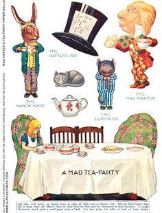 Alice In Wonderland Mad Tea Party Baby Shower Top Hat