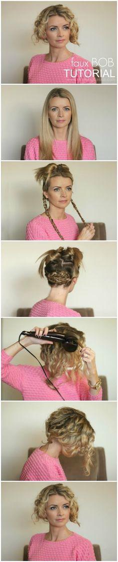 Faux Bob Hair Tutorial Using Infiniti Pro by Conair® Curl Secret® #heartmyhair #ad