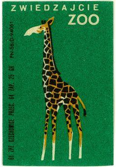 Match Box Label, Zoo