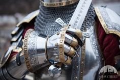 "Hourglass Finger Gauntlets ""King's Guard"" Medieval Armor Sca"