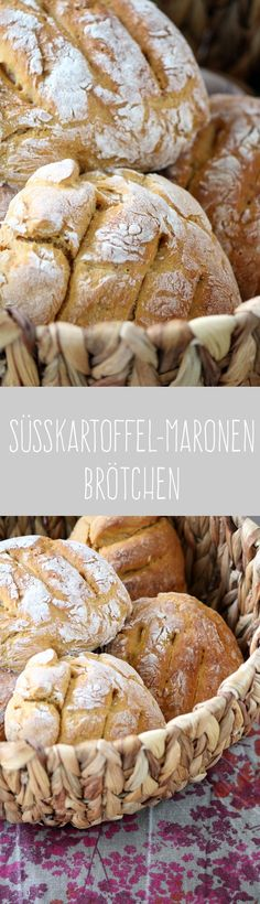 Süsskartoffel Maronen Brötchen I Tulpentag