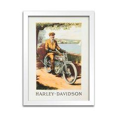 Quadro Harley-Davidson Antigo - 1913 - Machine Cult - Kustom Shop   A loja das camisetas de carro e moto