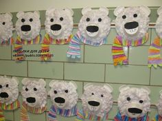 Tissue Paper Collage Polar Bears- pincher strength, gluing, cutting curved lines. write a saying about polar bears on the back Winter Art Projects, Winter Project, Projects For Kids, Kindergarten Art, Preschool Crafts, Bears Preschool, Preschool Winter, Winter Fun, Winter Theme