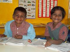 All smiles while they learn!