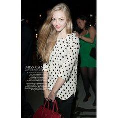 polka fot chiffon blouse-white