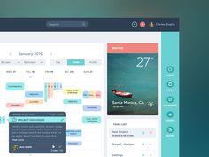 UI Design Calendar Dshboard