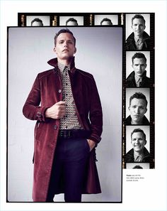 Standing tall, Nathaniel Visser wears a Prada outfit.