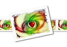Heart, Love, Romance, Postcard