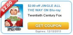 $2.00 off JINGLE ALL THE WAY ON Blu-ray expires: 12/13/2013