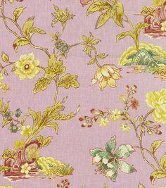 Home Decor 8''x 8'' Fabric Swatch Upholstery-Williamsburg Pondicherry Prune, , hi-res