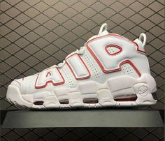 9eb9aec36a Big Discount 2018 Nike Air More Uptempo White Varsity Red White Online - $  93.00 New