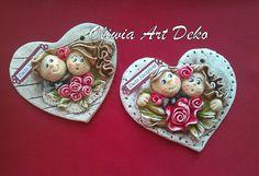 Oliwia Art Deko: Serduszka okazjonalne. Na ślub i chrzest :)