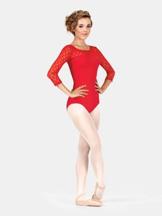 b389c1c65 Womens Lace 3/4 Sleeve Compression Leotard. All About Dance Mobile - Kids Dance  Clothing, Girls ...