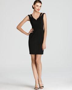 Black Halo Mini Dress - Analisa V Neck | Bloomingdale's