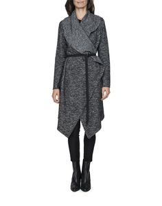 Wool Blend Waterfall Coat will keep her warm from her knees to her throat!