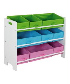 Take a look at this Home Basics White Nine-Bin Storage Shelf by All Tucked Away: Kids' Storage on #zulily today!