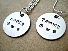 Personalized Hand Stamped Name Necklace  Your by TJsTreasureChest, $15.00