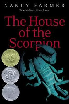 The House of the Scorpion by Nancy Farmer (Grades 7 & up). In a future where humans despise clones, Matt enjoys special status as the young clone of El Patrón, the 142-year-old leader of a corrupt drug empire nestled between Mexico and the United States. Sequel: The Lord of Opium