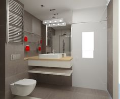 Elegancka łazienka w beżach i brązach