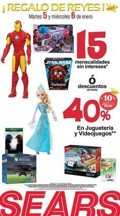 Sears ofertas día de Reyes hasta 40% de descuento en juguetes y videojuegos