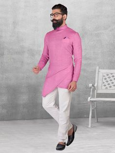 Shop Silk purple plain kurta suit for festive fuction online from India. Mens Indian Wear, Mens Ethnic Wear, Indian Groom Wear, Indian Men Fashion, African Fashion, Mens Fashion, Kurta Pajama Men, Kurta Men, Pathani Kurta