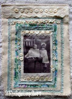 Greta & James Fabric Collage