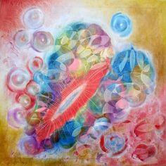 BROKEN HEART - oil pastels