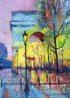 Paris Arc de Triomphie   Oil on canvas   70 x 50 cm   www.shevchukart.com