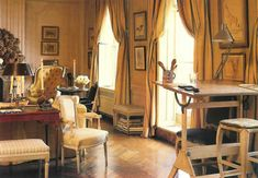 Photographs of the apartment at 1040 Fifth Avenue where she lived with Caroline and John after she moved to New York. From the Sotheby's catalog of the sale of The Estate of Jacqueline Kennedy Onassis in 1996.