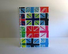 Fancy Union Jack Spiral Notebook 4 x 6 by Ciaffi on Etsy, $12.50