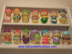 wonder if you can still buy these! I have the one with the red hat and green pants on the top row :)