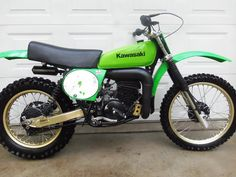 """1978- Kawasaki KX250; At the time those anodized swingarms gave the bike a very """"factory"""" look..."""