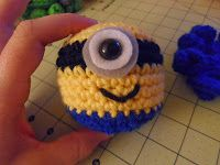 Several great free patterns for stuffies but this minion would be fun as just the ball version.