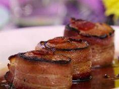 Bacon  Wrapped Pork Tenderloin with Pinot Noir Sauce