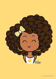 Little Curly Girl Cahier A Spirale En Afro Chulo - Available On Pillow Note Book T Shirt Tote Bag Sticker Pouch Art Black Love, Black Girl Art, Art Girl, African American Art, African Art, Black Girl Cartoon, Cute Cartoon Girl, Mode Poster, Art Mignon