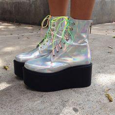 Hologram brogues @ Pixie Market $188 | Shoes. | Pinterest ...