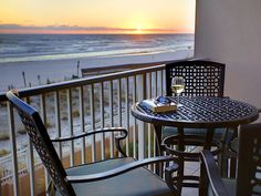 Perfect spot for watching the sunset, after a busy day on the beach