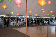 ZephyrTents with multicoloured paper lanterns