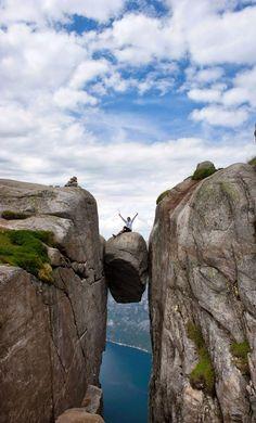 Kjerag Norway (15 Scariest Hikes in the World).