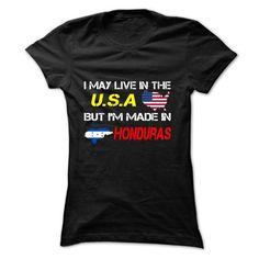 Honduras--USA - #cool hoodies #shirt maker. LOWEST SHIPPING:  => https://www.sunfrog.com/LifeStyle/Honduras-USA-Black-ghak-Ladies.html?60505
