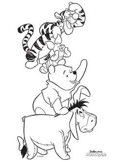 Nalle Puh -värityskuva. Lasten Oman Kirjakerhon tulostettavat värityskuvat. Free printable pattern. lasten | askartelu | käsityöt | värittäminen | DIY ideas | kid crafts | colouring Shanty Chic, Coloring For Kids, Bambi, Rock Painting, Cutting Files, Painted Rocks, Winnie The Pooh, Minnie Mouse, Disney Characters