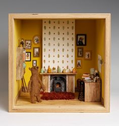 Home Is Bear The Heart Is by Mister Peebles - Dream rooms in dolls' houses (The Guardian)