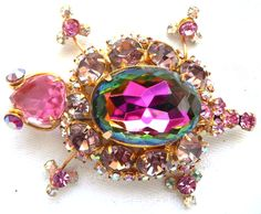 """RosamariaGFrangini   My Colorful Jewellery   MM&Co   This gorgeous DeLizza & Elster JULIANA turtle figural brooch or pin is showcased on page 161 of Knutson & Wacher's 2013 edition of """"JULIANA J..."""