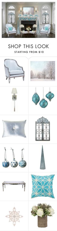 """""""Blue Christmas."""" by cradee ❤ liked on Polyvore featuring interior, interiors, interior design, home, home decor, interior decorating, Oly, WALL, Polaroid and Baccarat"""