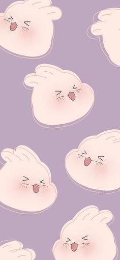 Iphone Wallpaper Kawaii, Cute Pastel Wallpaper, Soft Wallpaper, Cute Patterns Wallpaper, Bear Wallpaper, Iphone Background Wallpaper, Purple Wallpaper, Cute Anime Wallpaper, Aesthetic Pastel Wallpaper