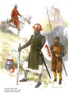 German Medieval Armies 1000–1300 - Late 13th Century.