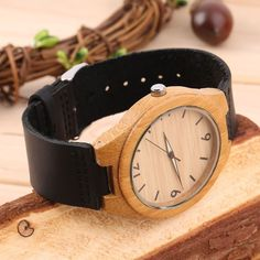 Vintage Wooden Dial Watch Quartz Watches Men Women Couple Watch White Pointer E0