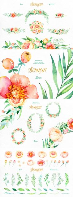 Sunlight Floral Collection - https://www.designcuts.com/product/sunlight-floral-collection/